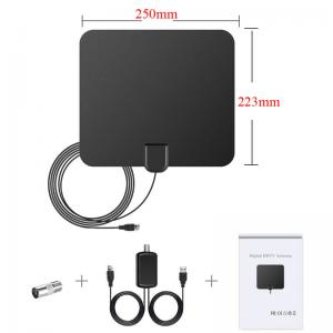 China Indoor HDTV Antenna Amplified TV Antenna 50 Mile Range 4M Length Cheap HD TV Antenna With Packing Box on sale