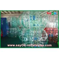 Clear / Red / Blue Inflatable Soccer Bubble Ball Giant Human Bubble Ball
