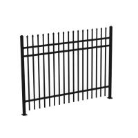 1.8mH 3 Rails Galvanized Wrought Iron Fence Panels , Decorative Metal Fencing
