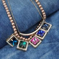 Vintage Hematita Anchor Charm Pendant Necklace
