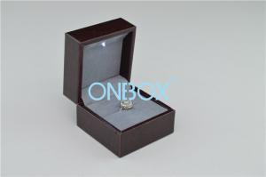 China Window Display Jewellery Gift Boxes Grey Suede Inner For Big Single Finger Ring on sale