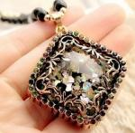 Many Choice for You Opal Long Sweater Chain Accessories Pendant Necklace