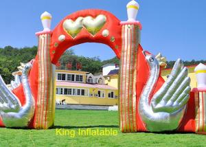 China 420D Nylon Fabric Swan Inflatable Arches With Air Blower on sale