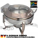 6L Rectangular Catering Chafing Dish With Lids Enviornmental Friendly Copper Color