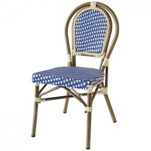 China Lightweight Framed Bamboo Rattan Bistro Dining Chairs on sale