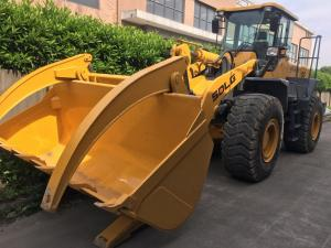 China SDLG LG956L Compact Second Hand Wheel Loaders Front End With Log Grapple on sale