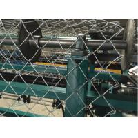 Low Noise Chain Link Fence Weaving Machine High Working Efficiency Large Capacity