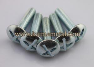 China Carriage bolts, zinc plated carbon steel bolt screw on sale