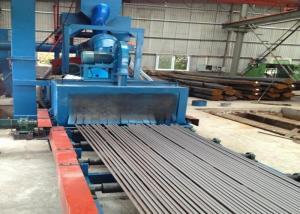 China Auto Pass Through Blast Cleaning Machine Steel Bars Derusting High Efficiency on sale
