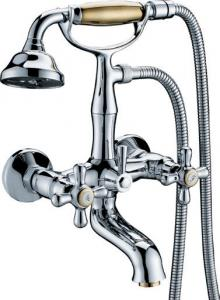 China Two Hole Traditional Bath Mixer Taps , Double Handle Tub Faucet on sale