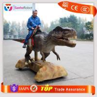Saddle Sitting&Wheels moving Type Artificial Animal Animatronic walking dinosaur rides Amusement Park Ride