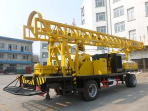 China BZCT400SZ/BZT400SZ/BZCT400/BZT400 400m trailer type diesel rotary water well drilling rig on sale