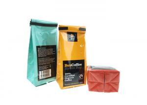 China Zipper Top Colorful Stand Up Coffee Bags , Custom Printed Coffee Bags Size 23*12.5CM on sale