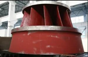 China Hydroelectric Generator Vertical / Horizontal Francis Turbine 0.15-10m3/S Flow on sale