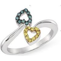 China Diamond & topaz gem ring on sale