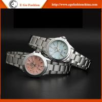 005A Pink Fashion Jewelry Watch Rhinestone Bling Watches Stainless Steel Woman Watch Hot