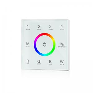 China Ultra Sensitive RGBW LED Controller , Led Dimmer Touch Panel No Noise on sale