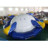 4 - 6 Person Water Inflatable Rotating Top Inflatable Water Gyro , Planet Saturn