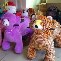 China Hansel furry motorized animals dinosaur rides dog soft animal toys for shopping mall on sale