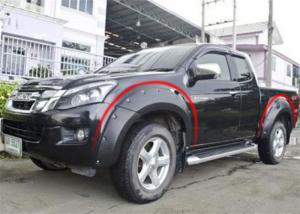 China Modified Wheel Arch Flares For ISUZU D-MAX 2012 - 2015 , 2017 Fender Flares on sale