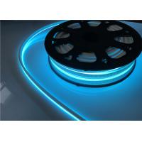 IP67 12V / 24V Blue LED Strip Lights , 1M Cut Silicone Flexible Neon Rope Light
