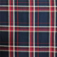 110-115gsm Yarn Dyed Fabric Red Black And Navy Color For Casual Shirts