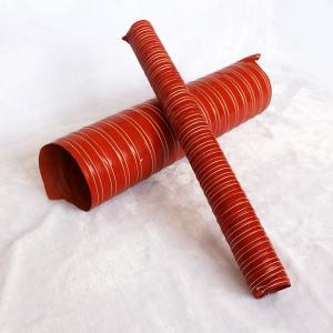 China Heat Resistant Red Double Layer Silicone Flexible Vent Air Duct Hose Tube For Air on sale