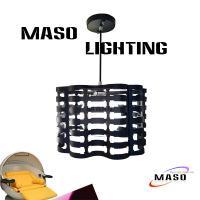 New Arrival Iron Pendant Lamp for Guzhen Light Fair Globe Glass Cover 3w led Light source