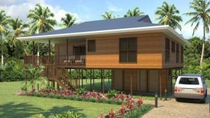 China Heat Insulation Prefab Home Beach Bungalows , Customized Light Steel Bungalow on sale