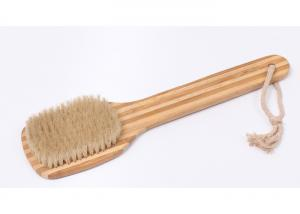 China Best Dry  Bamboo Spa Body Brush for Skin Brushing Natural Boar Bristles on sale