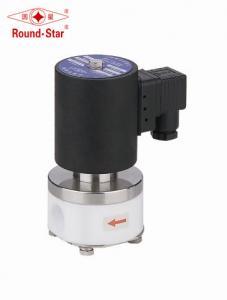 China 1 Inch Solenoid Valve PTFE Solenoid Valve For Sulfuric Acid Liquid  Air on sale