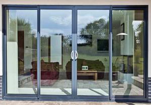 China Modern House Security Aluminium Sliding Glass Doors With Powder Coating on sale