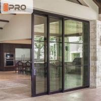 China Interior Aluminium Sliding Doors With Glass Inserts For Living Room on sale