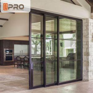 China Interior Aluminium Sliding Doors With Glass Inserts For Living Room aluminum sliding glass screen door on sale