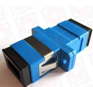 Quality Ceramic Fiber Ferrule Blue SC UPC SM Simplex Fiber Optic Adapter with long for sale