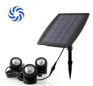 China 150 Lumens Super Bright Solar Powered Garden Spotlights 4500K - 5500K For Illumination on sale