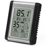 DTH-124 LCD Touch Screen Max MIN Digital Hygrometer Indoor Outdoor Thermometer Humidity Monitor