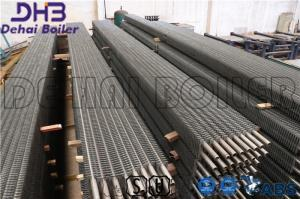 China SA213 T22 Alloy Steel Boiler Fin Tube , Finned Tube Economizer Line Staggered Arrangement on sale