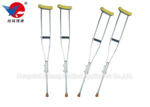 China Safety Convenient Medical Walking Crutches , Aluminum Alloy Weight Bearing Crutches on sale