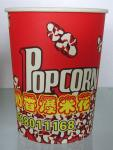 32oz -85oz Disposable Paper Popcorn Buckets With Single Side PE Coated