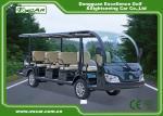 Green / Black Rustproof Body electric sightseeing bus tour 1 year Warranty