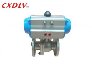 China Double Acting Flange Pneumatic Actuated Ball Valve Control Valve 150LB on sale