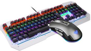 Quality Colorful Backlit Aula Wired Keyboard Mouse Combo With CE Certificate for sale