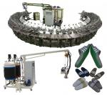 Good quality pu shoe soles pouring machine with rotary production line