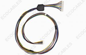 China 24awg Copiers Wire Harness With Ferrite Core UL1061 Crimped PHR Terminal on sale