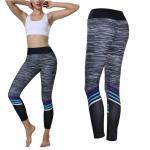 Zebra Print Yoga Pants High Waist Women Fitness Energy Seamless Push Up Calf Length Pants