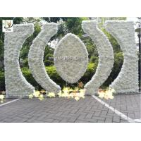 China UVG indian wedding flower arch in artificial rose and hydrangea for stage backdrop decoration CHR1146 on sale