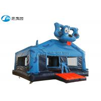 Blue Dog Inflatable Bounce House Inflatable Kids Jumping Castle Customized Size