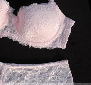 a940b0cbfbf ... Quality Cotton Pink Lace Breathable Sexy Matching Bra and Underwear Sets  for sale ...