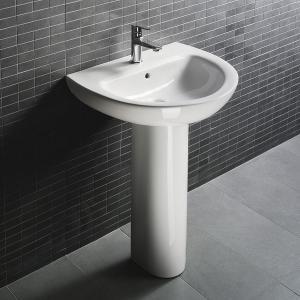 D4009 Bathroom Pedestal Sink Hindware Corner Wash Basin Vanity Units For  Bathroom